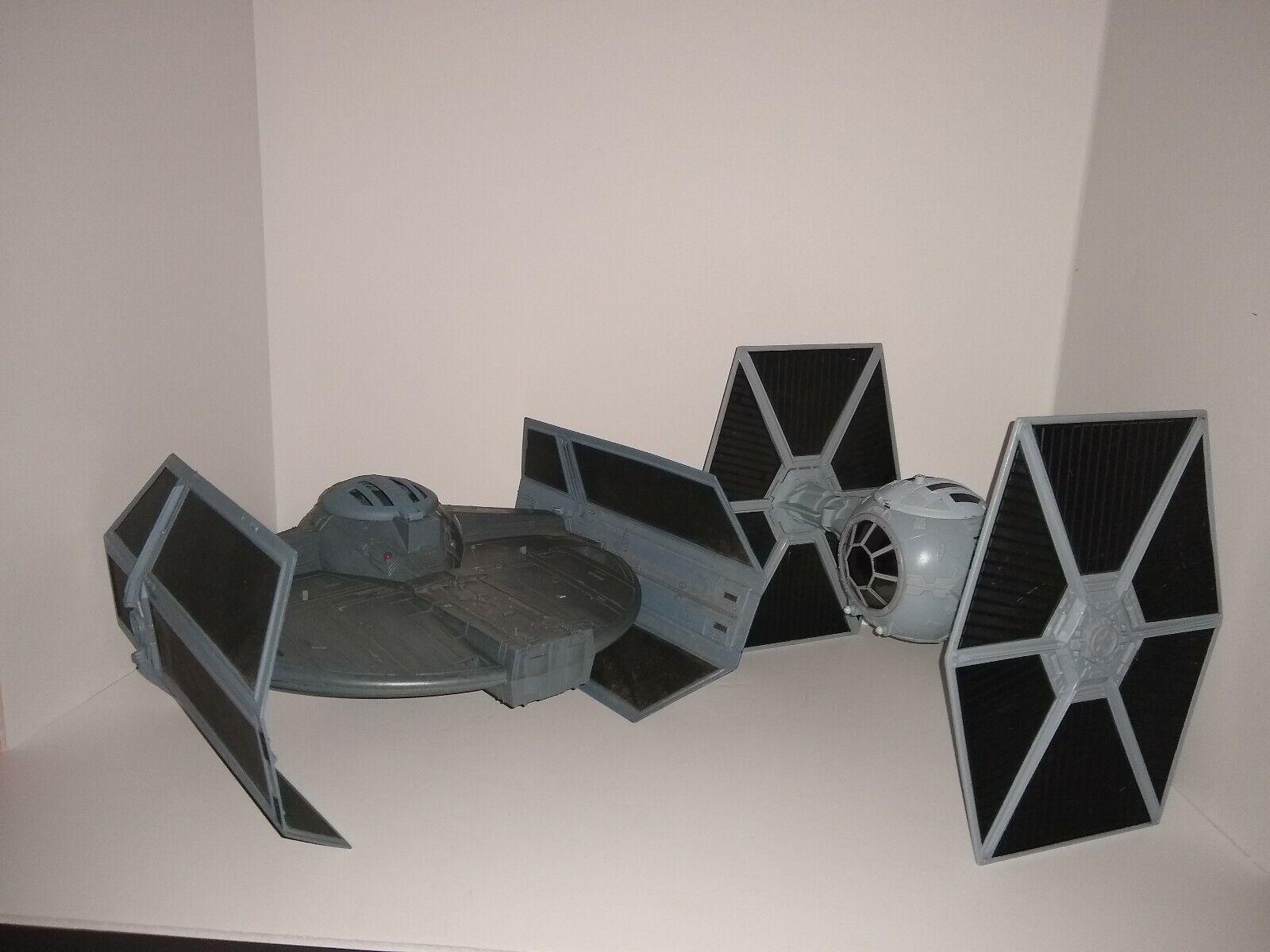 Star Wars Vintage Darth Vader with His 2003 Imperial Tie Fighter & Tie fighter