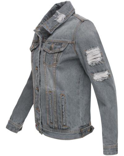 Navahoo Jeans Damenjacke Jeansjacke Destroyed Übergang Sommer Jacke 2019 Pamuyaa
