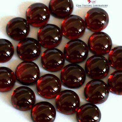 GTL CERTIFIED 8x8 mmRound Garnet Jewelry Making Loose Gemstone Wholesale 500 pcs