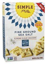 Simple Mills - Naturally Gluten-Free Almond Flour Crackers Fine Ground Sea Salt