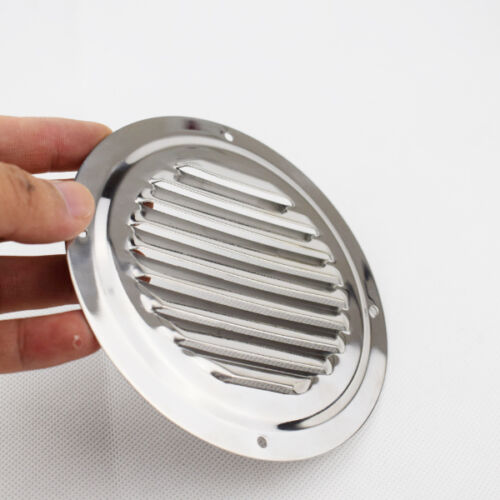 "2X Round Louvre Air Vent Fitting 5/"" Ventilator Grille Cover Stainless Steel"