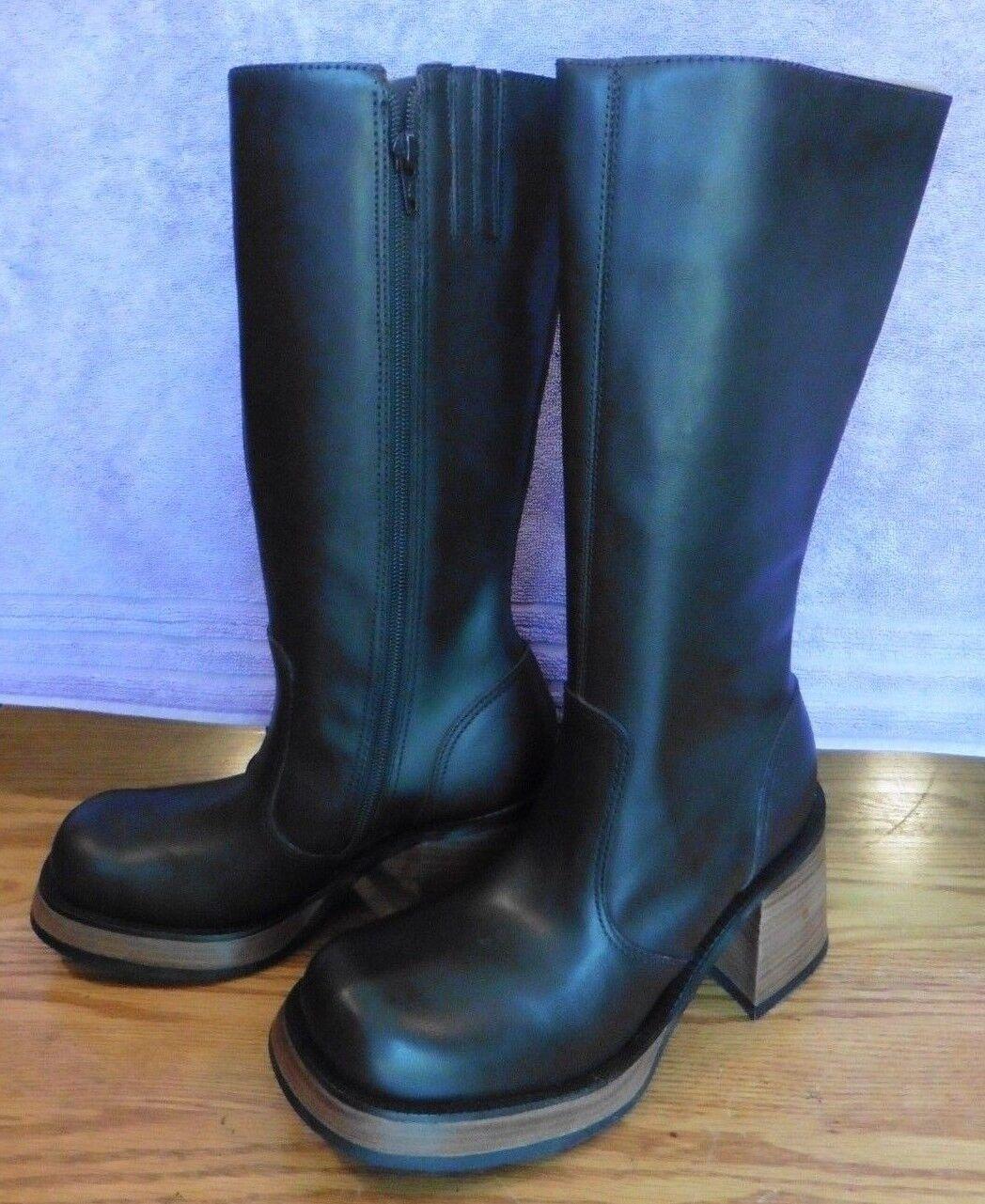 NEU Steve Madden Braun Leder Damenschuhe Stiefel Ray Brazil Größe 6 mid-calf high heel