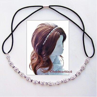 Rhinestone Mini Stud Accent Hair Band Headband Bridal Headpiece Prom Dancer