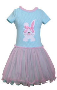 Bonnie-Jean-Easter-Bunny-Holiday-Multi-Polka-Tutu-Pink-Dress-Big-Girls-7-8-10-12
