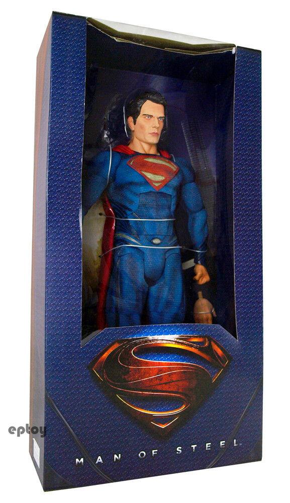 NECA Man of Steel Superman 1  4 e skala Action Figur