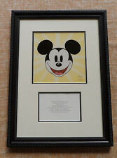 Mickey Mouse especial Award Disney, rare, 15 1/4 x 21 inches, with Certificate