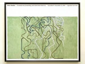 """BRICE MARDEN LITHOGRAPH PRINT ABSTRACT EXPR FRAMED EXHBT POSTER """"ELEVATION"""" 2019"""