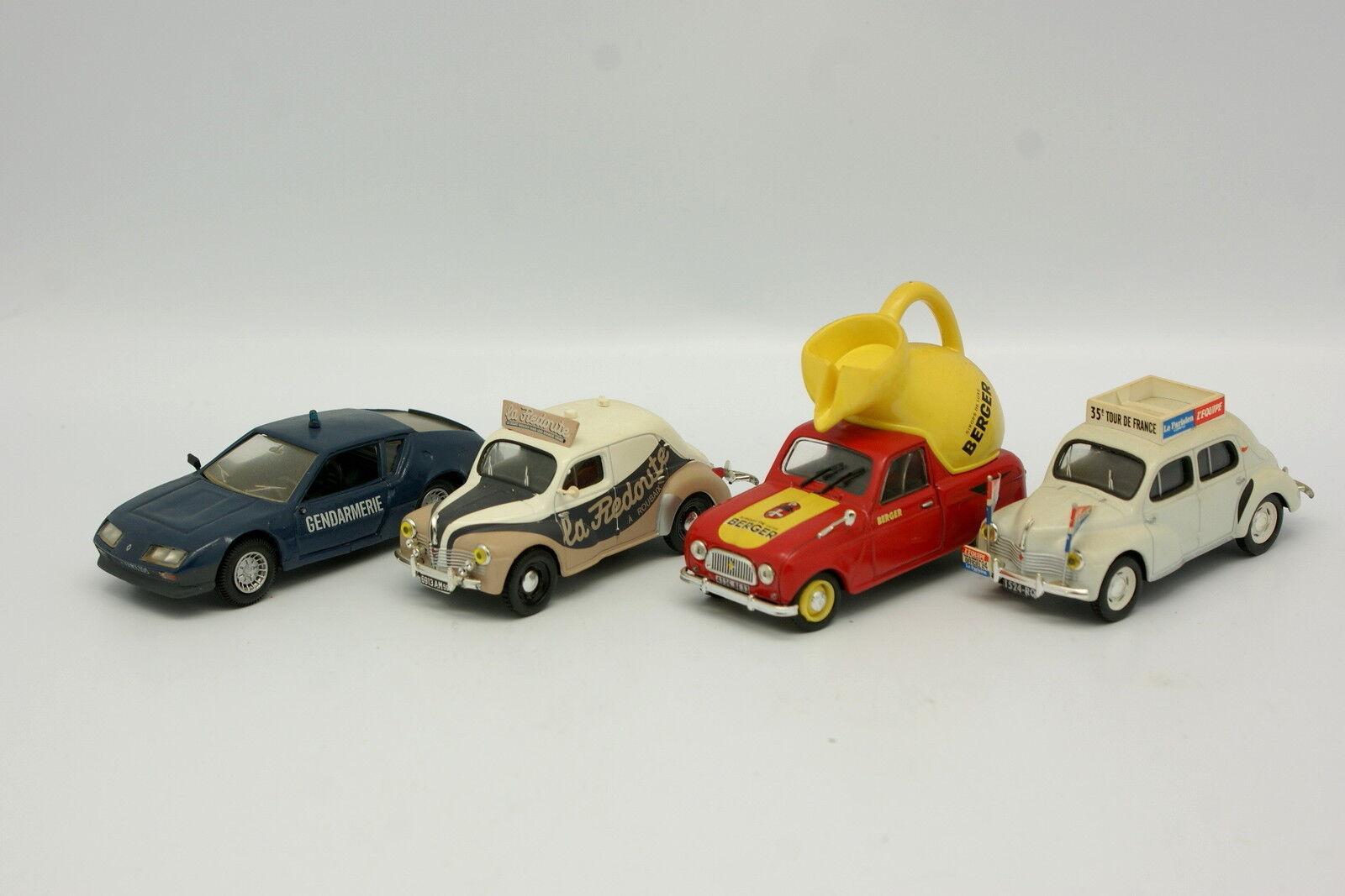 Norev SB 1 43 - Lot de 4 Renault