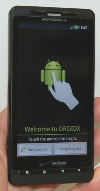 Motorola Droid-X Verizon BLACK Smart Cell Phone Bluetooth WiFi vCast MB809 -B-