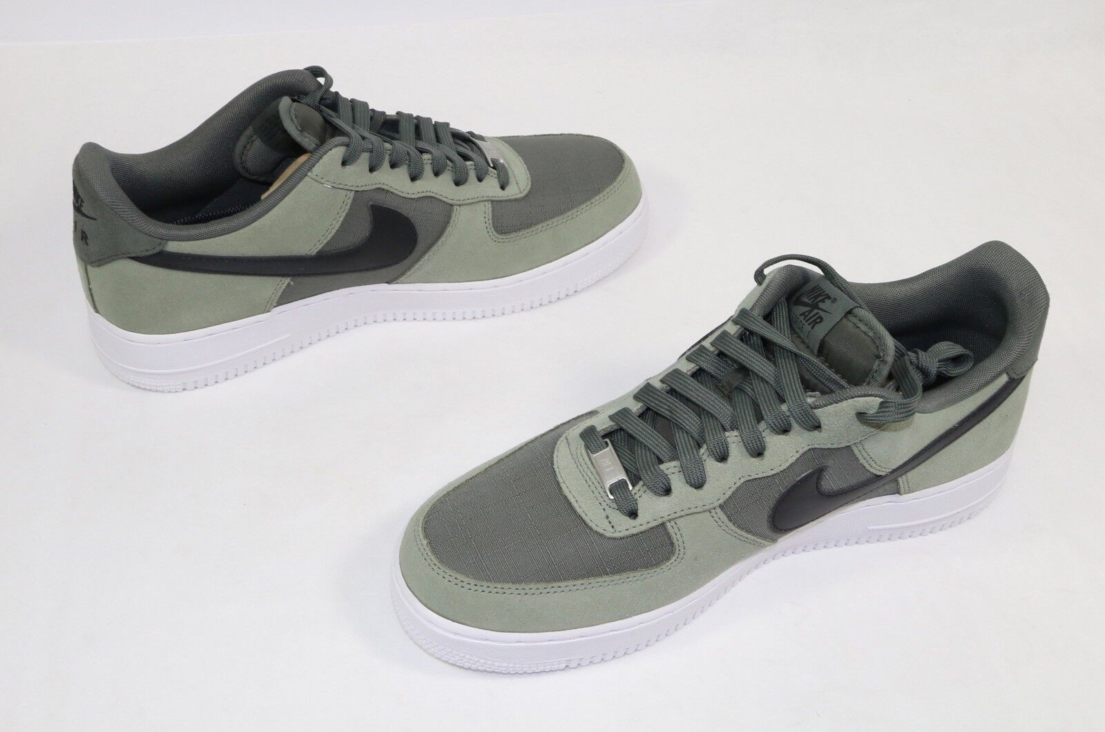 NEW Mens Nike Air Force 1 One Low QS Sneaker New Grey River Rock 488298-081 10.5
