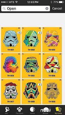 Topps Star Wars Digital Card Trader Grey TK-421 Helmet TK-012 Insert