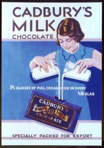 Modern Postcard: Cadburys MILK CHOCOLATE - Retro Advert (Opie 01CAD03)