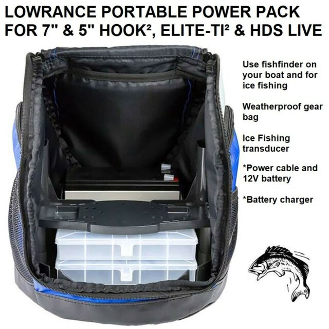 """Lowrance Portable Power Pack For Hook2 7/"""" or Smaller"""