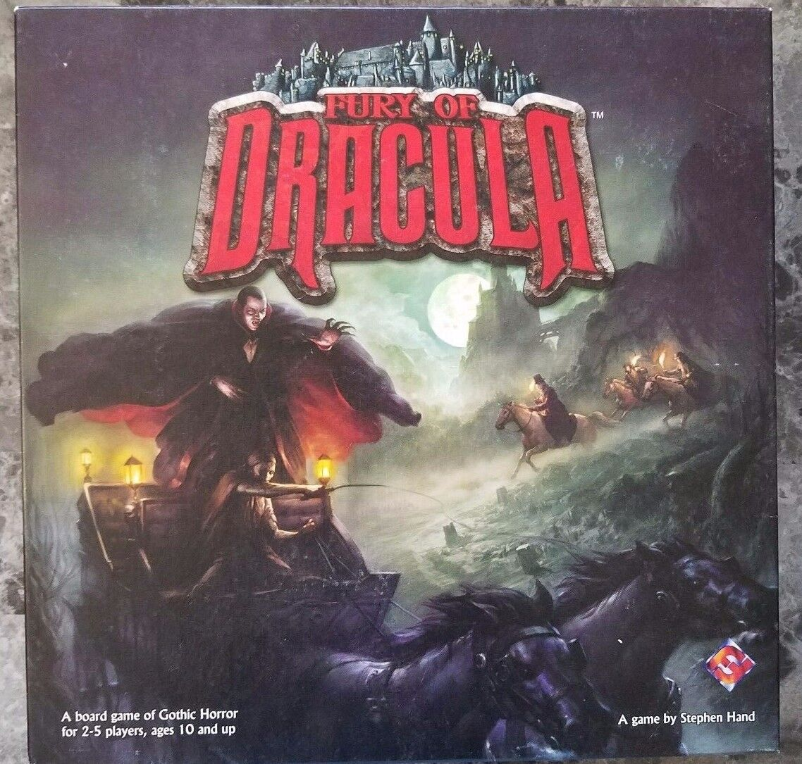 FURY OF DRACULA board game 2nd edition Out of Print (VERY RARE) Used Good Cond.