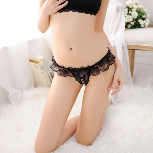 2x Sexy Damen Panty Perl Offen T-String Unterwäsche Panties Hotpant Hipster Slip
