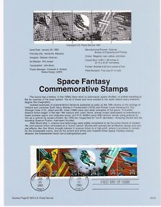 USPS-First-Day-Souvenir-Page-9302-2741-2744-Space-Fantasy-Science-Fiction-1993
