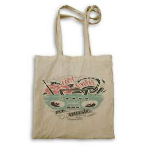 Not Only For Music, Retro Green Radio Tote bag hh915r