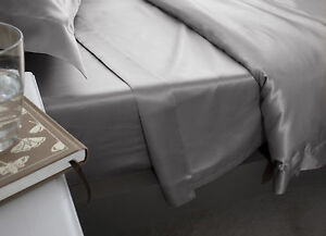 Jasmine-Silk-Pure-Silk-Flat-Sheet-Grey-DOUBLE