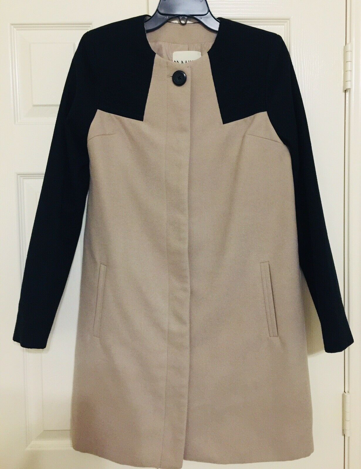 BB Dakota two-tone knee length coat