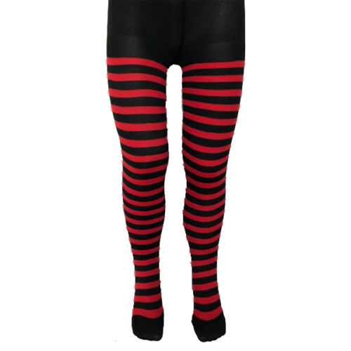 6-12 CHILDRENS KIDS GIRLS HALLOWEEN TIGHTS STRIPED BLOODY FANCY DRESS COSTUME