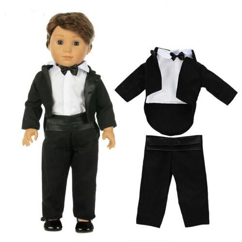 Puppen Kleidung Hochzeit Frack 3tlg für 36 bis 45 cm große Puppen Jungen Nr 385a