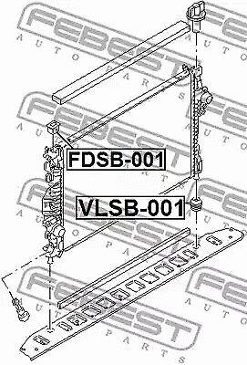 001 Soporte del Radiador Febest VLSB