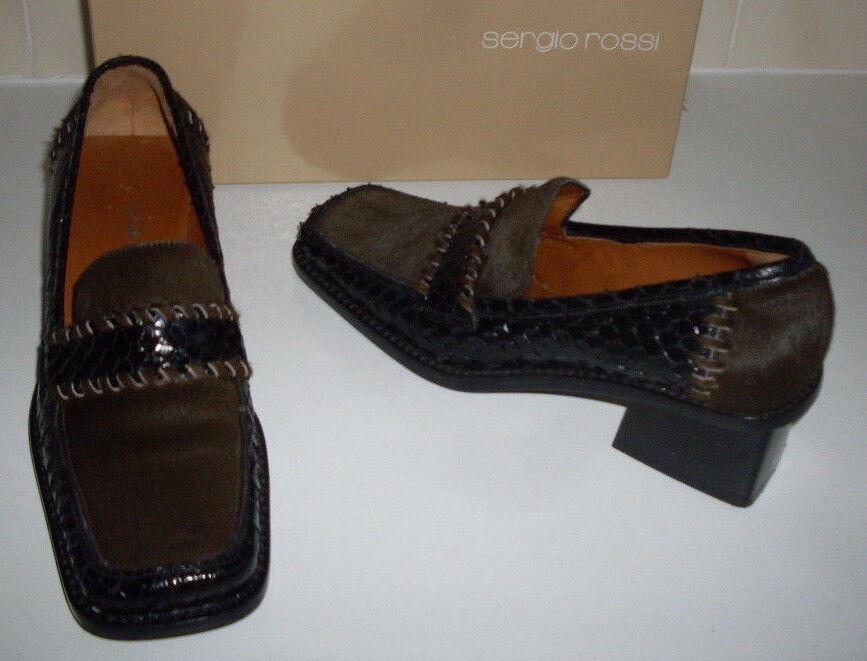 SERGIO ROSSI Italian Designer damen Loafer schuhe Größe Größe Größe UK 3 - 3.5 EU 36 US 6 da6d39