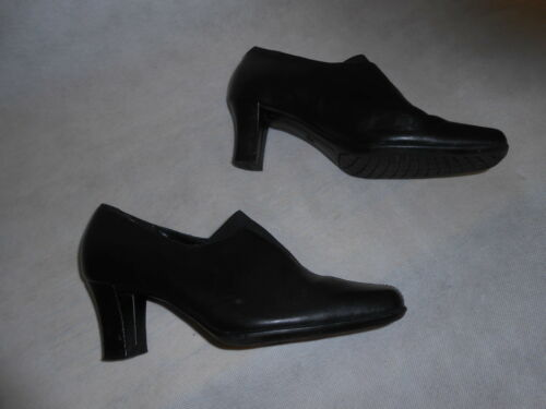 Real Mark Spencer Booties Ladies Size Leather On 3 Pull Footglove Black 4Ewqxn6T