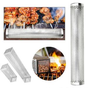 Smoker-Wood-Pellet-BBQ-Grill-Hot-Cold-Smoke-Generator-Smoking-Mesh-Tube-Exotic
