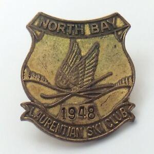 Laurentian-Ski-Club-Ski-Hill-North-Bay-Ontario-1948-Pin-G106