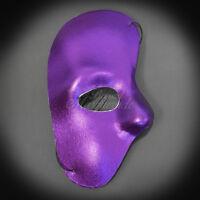 Party Mask Phantom Year Mardi Gras Masquerade Mask For Men Purple J-6919