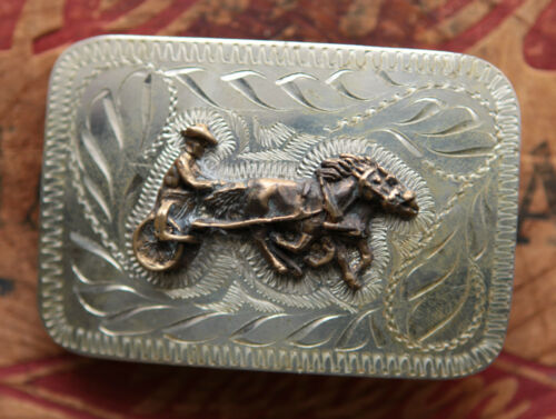 Vintage Hand Made Engraved Harness Racing Western