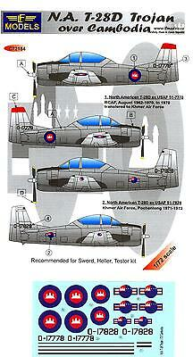 LF Models Decals 1/72 NORTH AMERICAN T-28D TROJAN OVER CAMBODIA