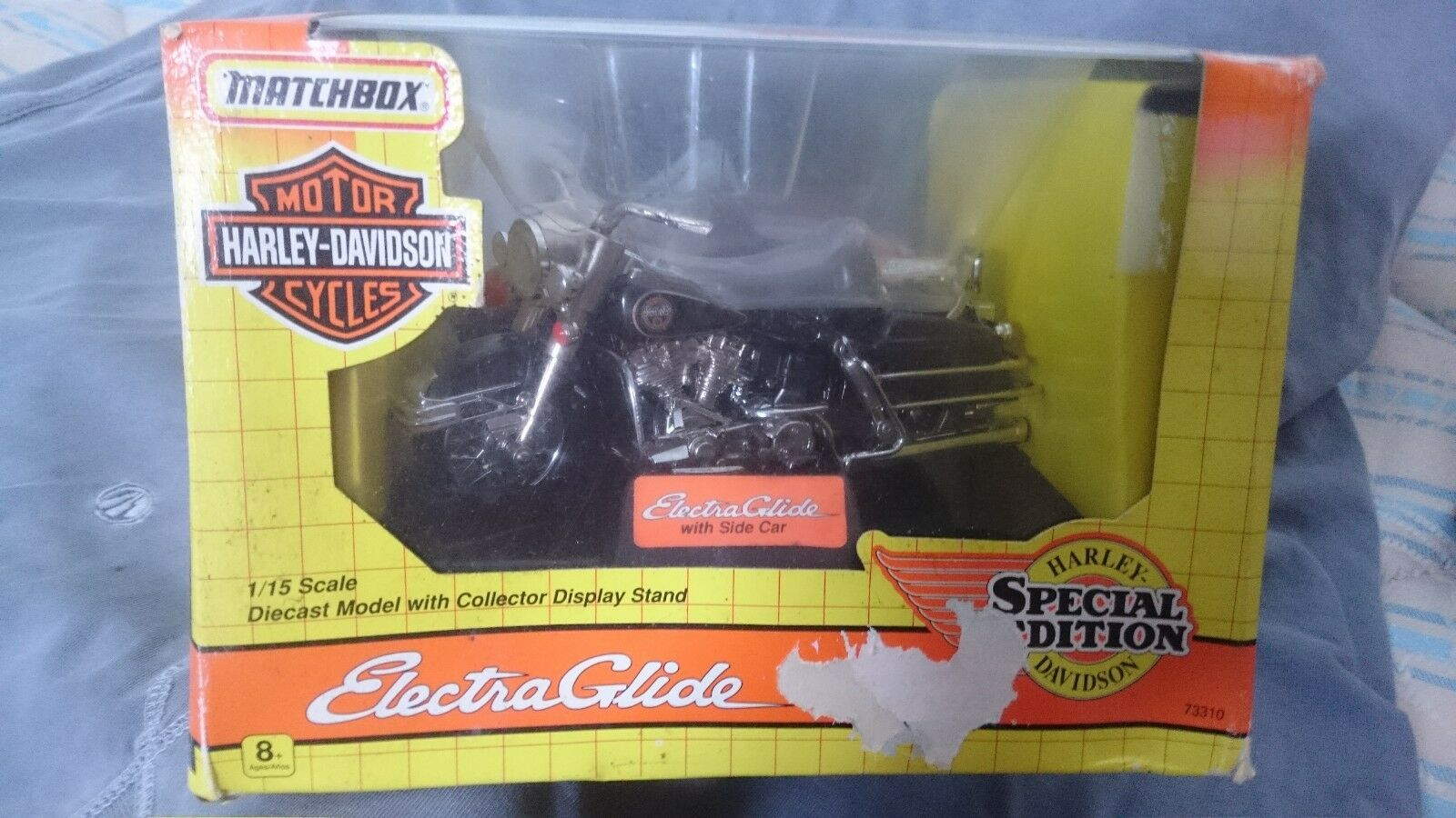 MATCHBOX HARLEY DAVIDSON ELECTRA GLIDE with SIDE CAR SPECIAL EDITION 73310 1 15