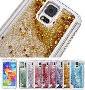 Samsung Galaxy Note 4 Hard Skin Case Cover Flowing Sparkle Liquid