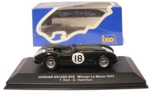 IXO lm1953 JAGUAR Xk120C   18 Vainqueur du Mans 1953-ROLT   HAMILTON, échelle 1 43,