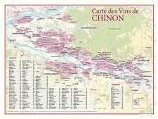 POSTER 30x40 cm : Carte des Vins de Chinon