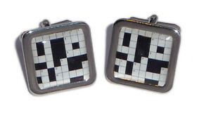 Crossword-Puzzel-Cufflinks