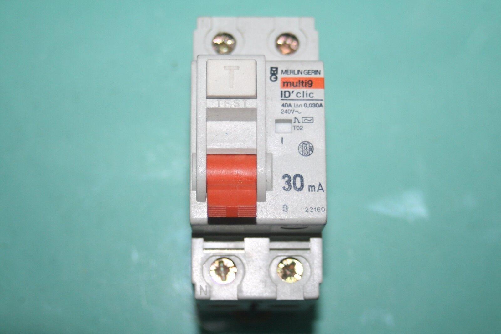 6x Schneider 23158 ID /'clic XP 2p 40 A 30ma-a Type A