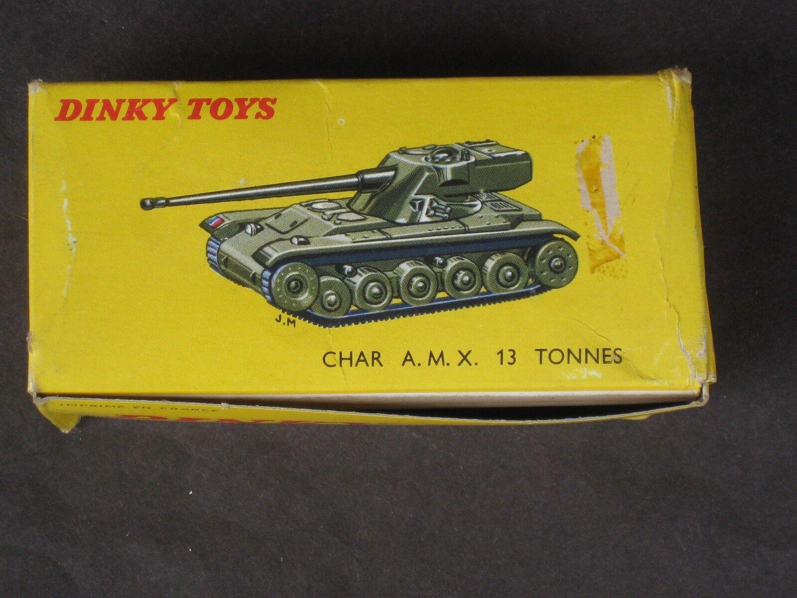 Vintage francés Dinky   817 Char AMX 13 Ton Panzer tanque Nuevo en Caja Como Nuevo