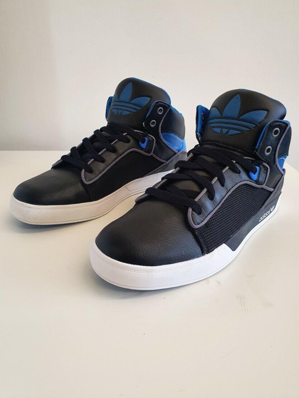 Herren Adidas Original Haltung Vulc Hohe Turnschuhe Schwarz G64293 UK 7 Eu 40.5