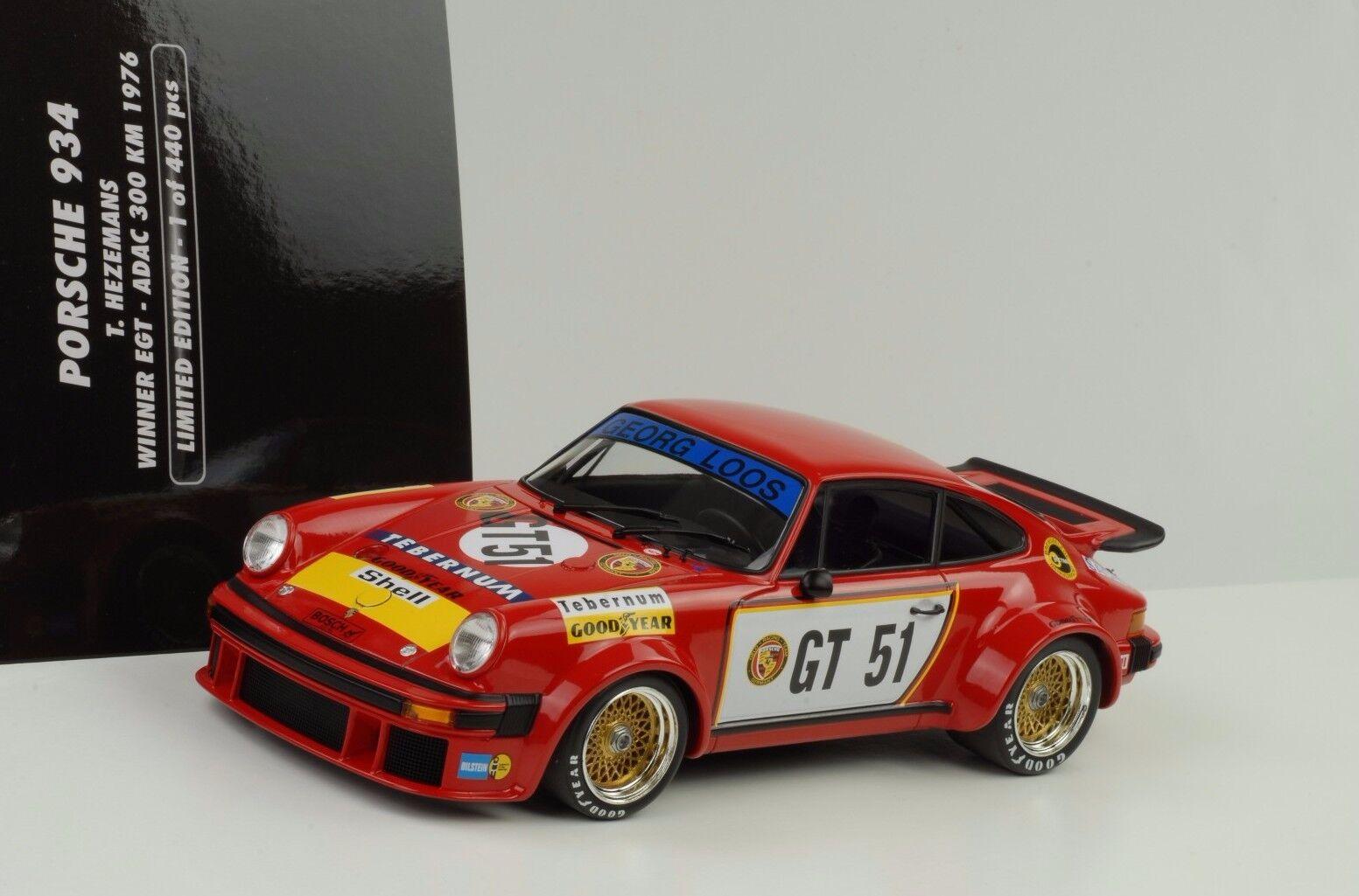 1976 Porsche 934 Loos  Gt41 Gangant Egt ADAC Hezemans 1 18 Minichamps