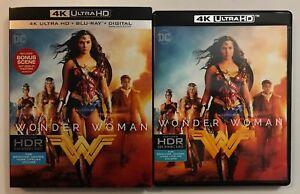 DC COMICS WONDER WOMAN 4K ULTRA HD BLU RAY 2 DISC SET RARE OOP SLIPCOVER