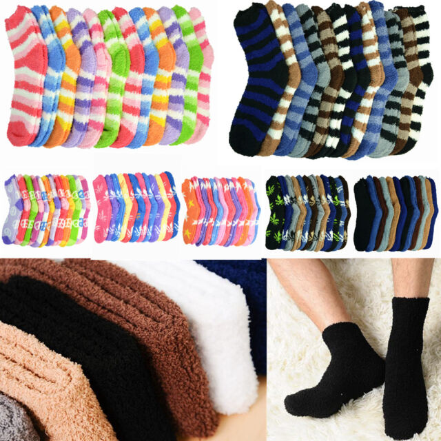 OVER THE KNEE HIGH SOCKS GREY PINK STRIPEY WARM WOMAN GIRL WINTER COSY GIFT