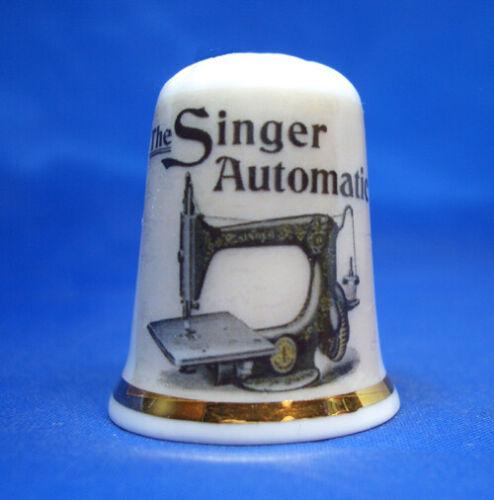 Birchcroft China Thimble Singer Automatic Sewing Machine Poster Free Box