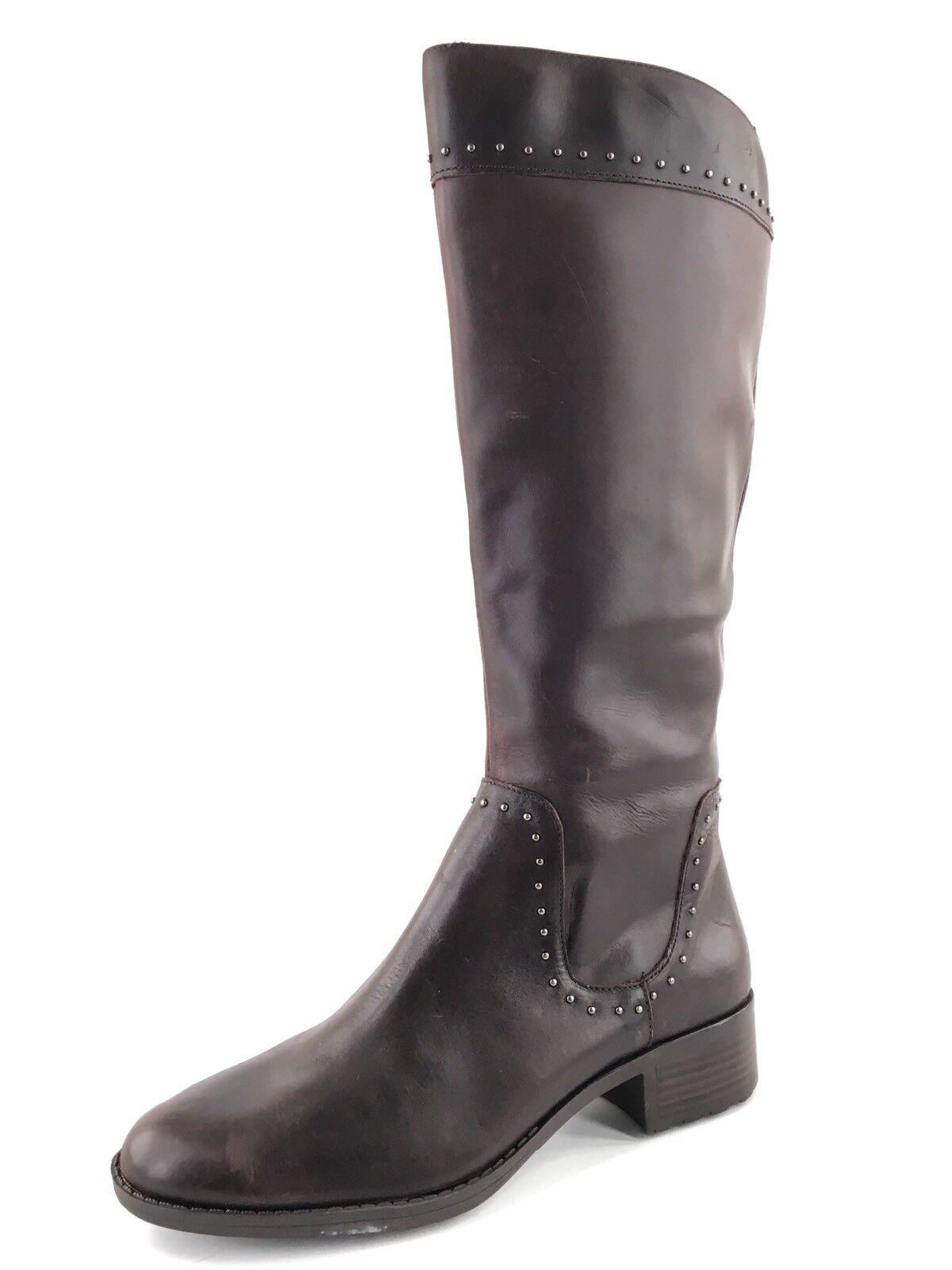 Circa Joan & David Talaro Braun Leder Knee High Stiefel Damens's Größe 7.5 M