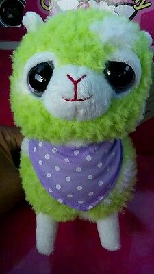 "5.75"" alpacas Plush HOT TOPIC New color light green single male alpaca!!!"