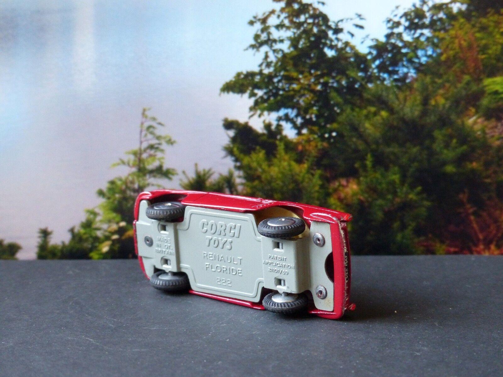 Corgi Toys 222 222 222 Renault Floride rojo-maroon c81845