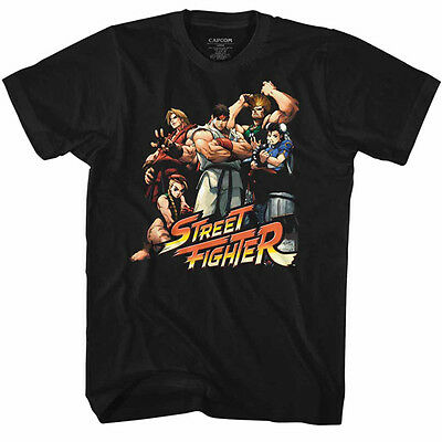 Street Fighter Capcom Video Game Pro Tour Group Of Fighters Adult T Shirt