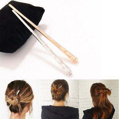 Metal Chinese Hair Stick Pin Chopsticks Ponytail Bun Holder Hairpin Ring